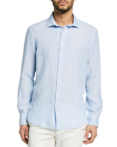 Men's End-on-End Linen Sport Shirt
