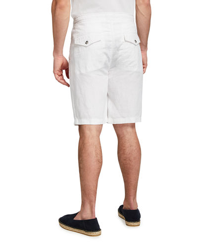Men's Linen Drawstring Shorts