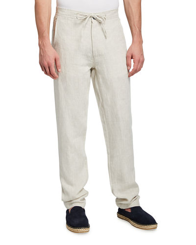 Men's Linen Relaxed Drawstring Pants