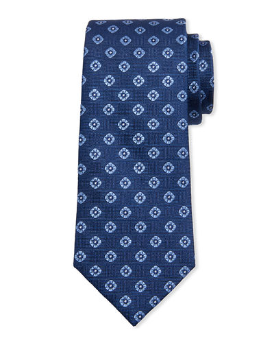 Men's Neat Box Silk Tie