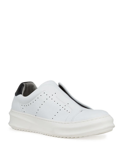 Men's Laceless Leather Sneakers