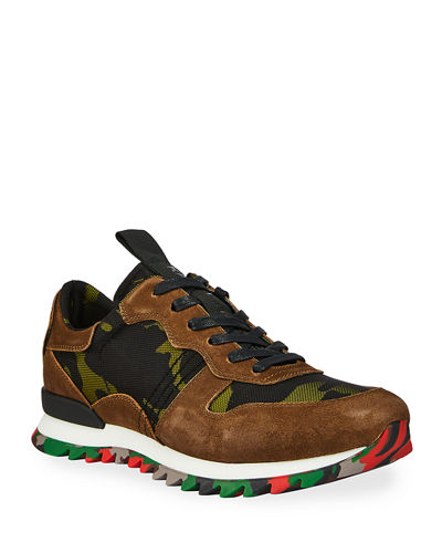 Men's Camo-Printed Trainer Sneakers