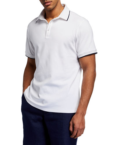 Men's Solid Tipped Polo Shirt