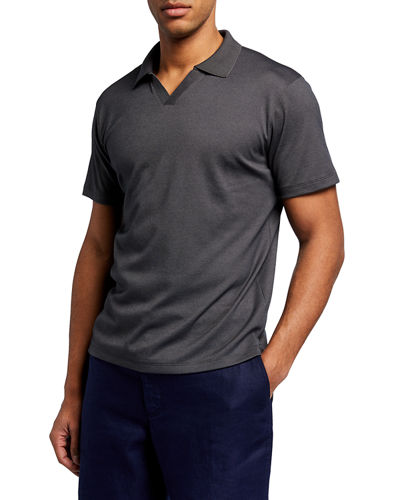 Men's Short-Sleeve Johnny Collar Polo Shirt