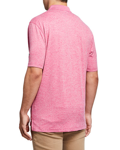 Men's Cooling Heathered Polo Shirt