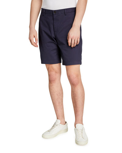 Men's Herringbone Print Slim Shorts