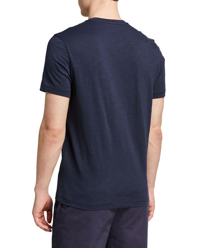 Men's Cotton T-Shirt with Embroidered Logo