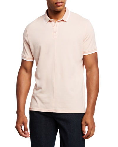 Men's Dover Tipped Pique Polo Shirt