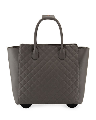 KC Jagger Camilla Quilted Top-Handle Rolling Travel Bag