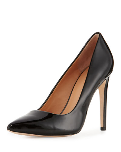Shirley Pointed-Toe Patent-Leather Pump
