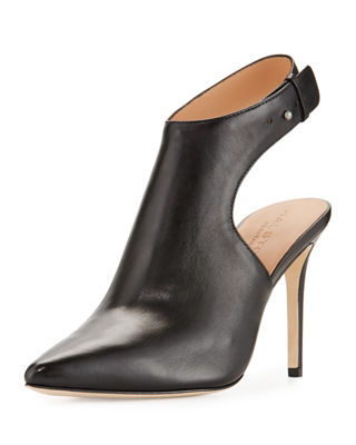 Halston Heritage Leather Pointed-Toe Boots
