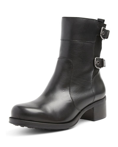 Laura Waterproof Leather Ankle Boot