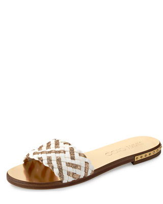 Jimmy Choo Woven Slide Sandals