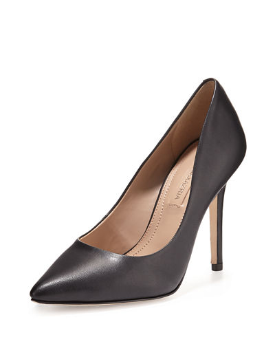 Opia Leather Pointed-Toe Pump