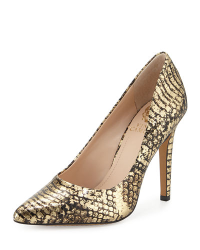 Kain Snake-Print Pointed-Toe Pump