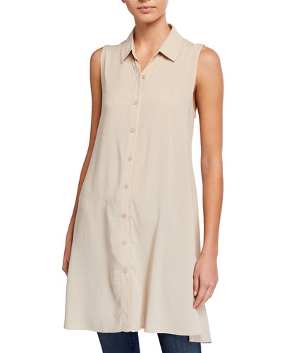 Button-Down Sleeveless Tunic
