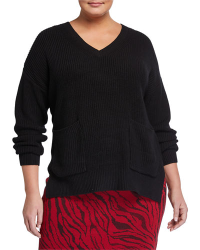 Plus Size Nellie V-Neck Sweater