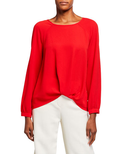 Side-Tuck Blouse