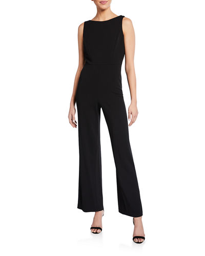 Cowl-Back Wide-Leg Jumpsuit