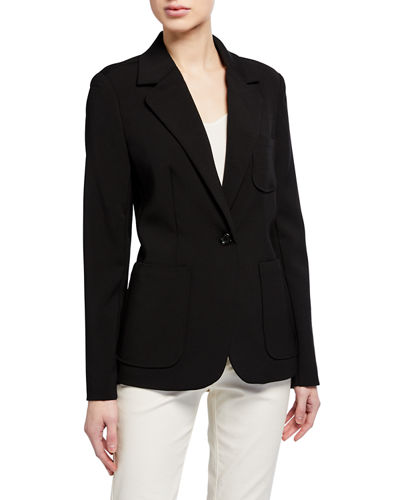 Notch Collar One-Button Jacket