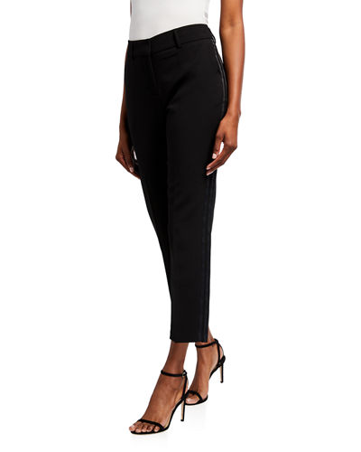 Tuxedo Cropped Ankle Pants
