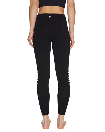 Diamond Cutout Mid Rise 7/8 Leggings