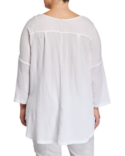 Plus Size Marthe Long-Sleeve Top