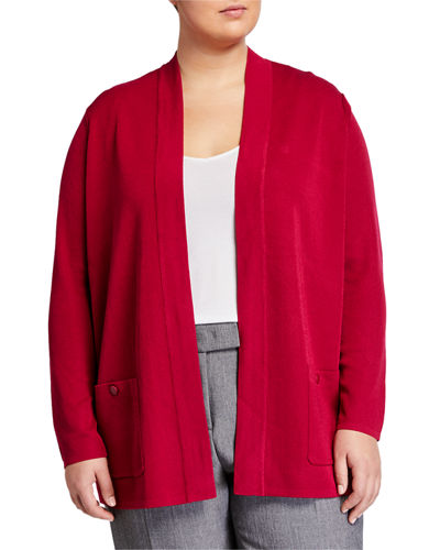 Plus Size Solid Malibu Cardigan