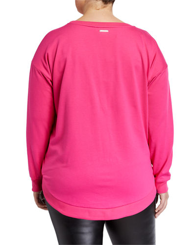 Plus Size Sequin Logo Sweatshirt