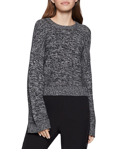 Cropped Flare-Sleeve Sweater