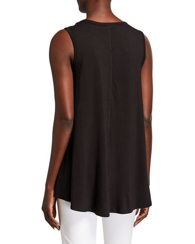 Sleeveless High-Low Jersey Top