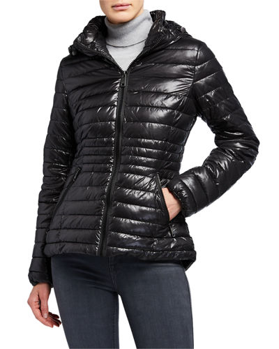 Hood Quilted Packable Puffer Jacket