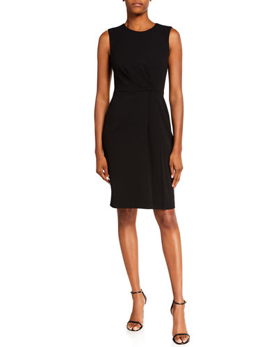 Sleeveless Sheath Dress with Pintucking Detail