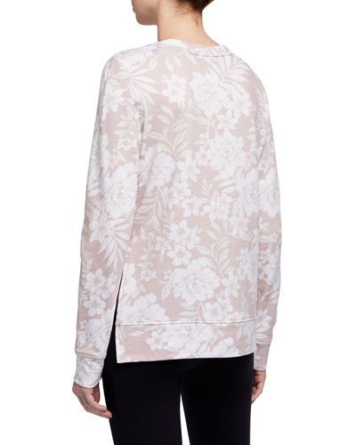 Printed High-Low Pullover