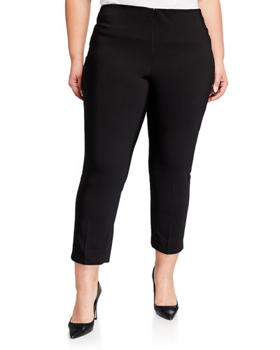 Plus Size Ankle-Zip Pants