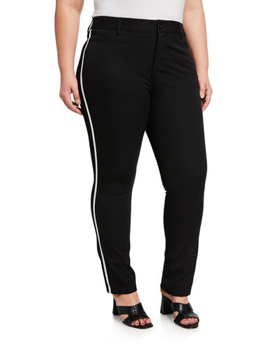 Plus Size Oakley Metallic Stripe Jeans