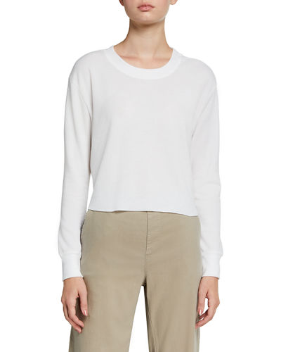 Thermal Long-Sleeve Cropped Tee