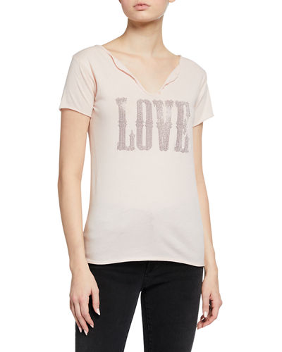 Tunisien Love Studded Short Sleeve Tee