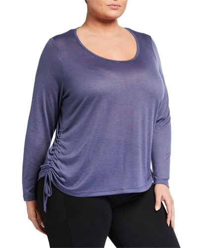 Plus Size Leah Side-Ruched Tee