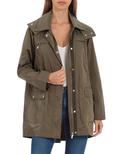 Pleat-Back Rain Jacket