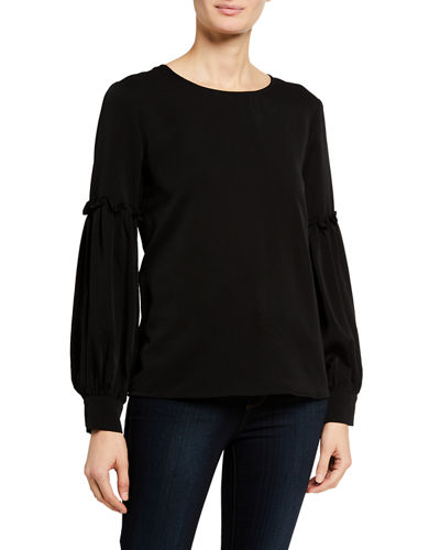 Cutout-Back Long-Sleeve Top