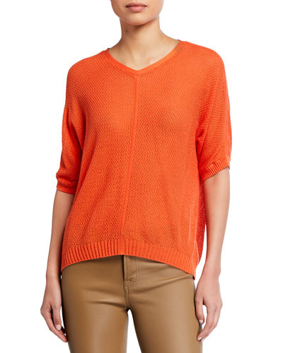 Dolman-Sleeve Cashmere-Blend Sweater