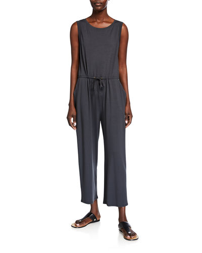 Sleeveless Drawstring Crop Jumpsuit