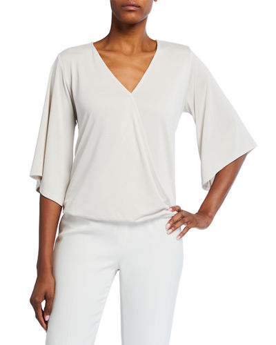 Surplice 3/4-Sleeve Top