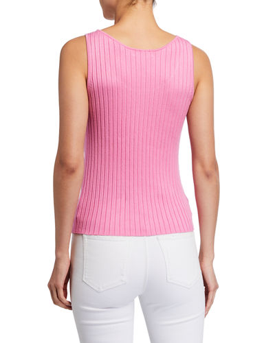 Scoop-Neck Rib Tank