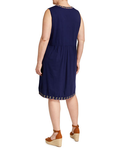 Plus Size Salome Embroidered Tank Dress