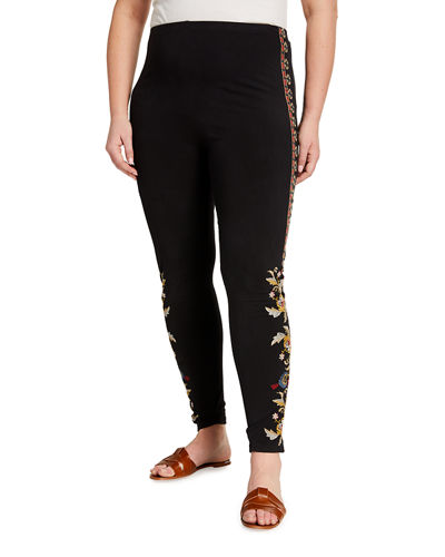 Plus Size Salome Embroidered Leggings