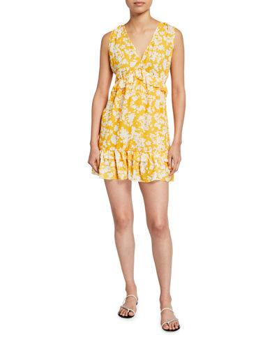 Merida Floral Ruffle-Trim Dress