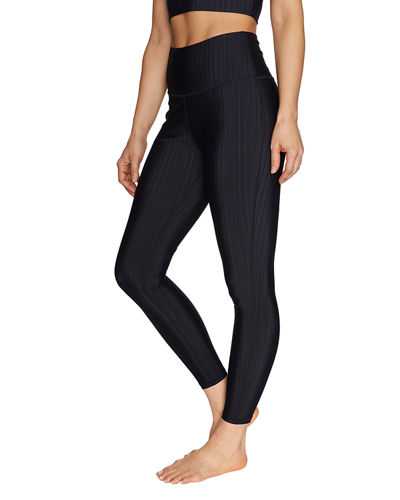 Embossed Pinstripe Leggings