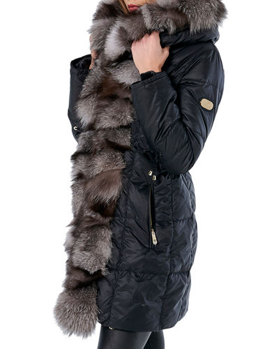 Apres Ski Jacket With Fox Fur Tuxedo